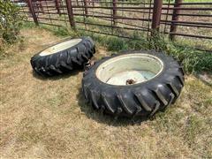 Firestone 15.5-38 Rims & Tires W/Hubs