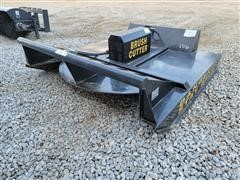2020 Mower King SSRC72 6' Wide Rotary Brush Cutter Skid Steer Attachment
