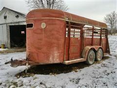 1979 Kiefer Built PT 16 T/A Livestock Trailer