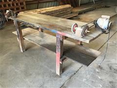 Wooden Shop Bench