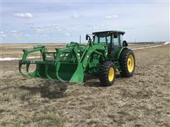 2015 John Deere 6105D MFWD Tractor W/H310 Loader