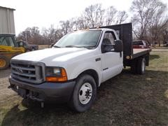 2000 Ford F350 XL Super Duty Dually Flatbed Pickup