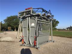 C&S Hydraulic Head/Squeeze Cattle Chute W/Hydraulic Neck Bender