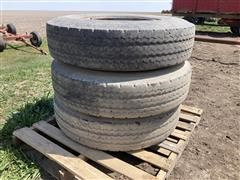 Michelin 10.00R20 Tires & Clamp-On Rims
