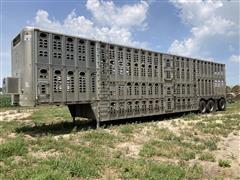 2003 Wilson PSDCL-402H Tri/A Silver Star Livestock Trailer