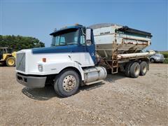 1999 Volvo WG42 T/A Dry Fertilizer Tender Truck