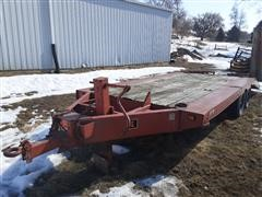 1984 DitchWitch BT-15 Tagalong T/A Flatbed Equipment Trailer