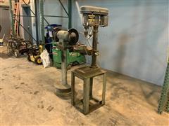 Columbia HD Drill Press & Delta Bench Grinder