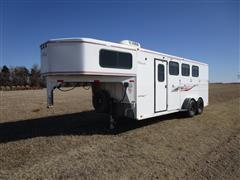 2000 Titan 27' 3-Horse Slant T/A Horse Trailer W/Living Quarters & Tack Room