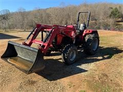 Mahindra 4540 4WD Utility Tractor W/Loader & Bucket