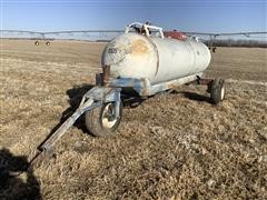 Trinity 1000-Gallon Anhydrous Tank On Running Gear