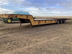 1973 Heavy Haul Tri/A Fixed Neck Lowboy W/Hyd Tail Section