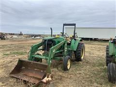 John Deere 6220 2WD Tractor w/ Loader (Inoperable)