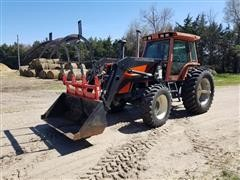 1984 Allis-Chalmers 8070 MFWD Tractor W/Westendorf Loader