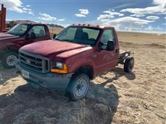 2001 Ford F350 4x4 Cab & Chassis