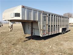 1988 Wilson PSGN-724 T/A Aluminum Double Deck Livestock Trailer