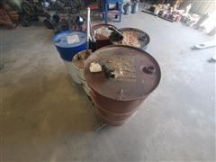 Oil Barrels & Hand Pumps
