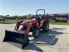 2016 Mahindra 1526H 4WD Compact Utility Tractor W/Loader & Backhoe