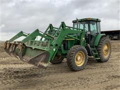 2002 John Deere 7410 MFWD Tractor W/Loader