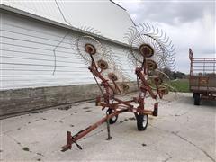 H&S V-Rake-8 Wheel Rake