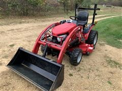 Mahindra Emax 25L Compact Utility Tractor W/Loader & Mower