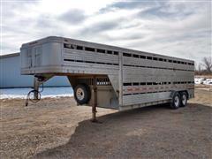 1981 Featherlite Aluminum Double Deck T/A Livestock Trailer