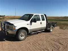 2004 Ford F250 Super Duty 4x4 Extended Cab Flatbed Pickup