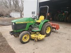 "John Deere 4200 Compact Utility Tractor W/72"" Mower"