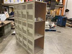 Vented Metal Locker Unit