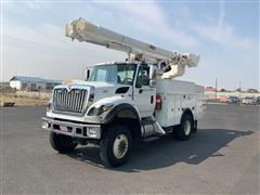 2012 International WorkStar 7500 4x4 Bucket Truck W/Altec L45M Aerial Lift