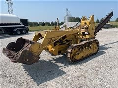Shopbuilt Crawler Tractor With Loader And Trencher