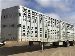 1999 Wilson PSADL-303P 49' T/A Straight Load Livestock Trailer (Modified)