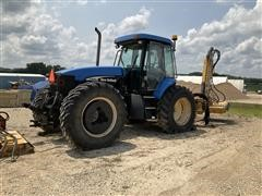 New Holland TV145 4WD Tractor W/Boom Mower