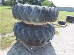 CO-OP Agri-Master 18.4x38 Dual Tires On DMI Clamp-On Rims