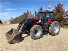 2005 Case IH MXM175 MFWD Tractor W/Westendorf Loader