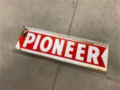 Pioneer Double Sided Vintage Metal Sign