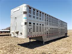 1999 Wilson PSDCL-302CL SilverStar T/A Aluminum Livestock Trailer