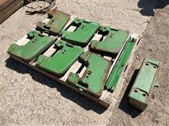 John Deere R51680 Suitcase Weights & Bracket
