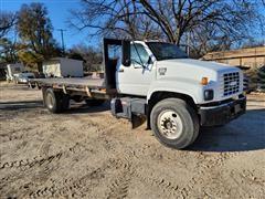 2000 GMC C6500 S/A Flatbed Dump Truck