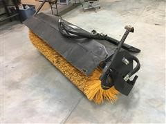 John Deere Worksite Pro BA84 Angle Broom Skid Steer Attachment