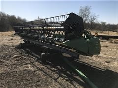 2009 John Deere 630F Flex Head & Trailer