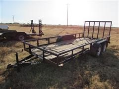 "2010 Big Tex 60SP 77"" X 16' T/A Utility Trailer"