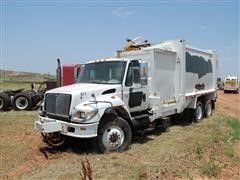2003 International 7400 DT530 T/A Automated Side Load Garbage Truck