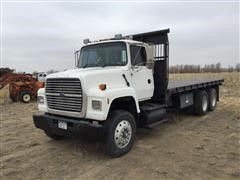 1997 Ford LN9000 T/A Flatbed Dump Truck