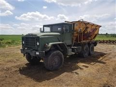 1990 American General M923A2 Military 6x6 Feed Truck W/Knight Mixer
