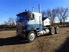 1976 Freightliner WFT86 T/A Cabover Truck Tractor