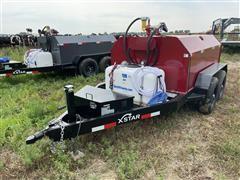 2021 XStar 750 Gal T/A Portable Fuel Trailer