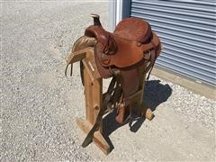 """Circle A 18"""" Handcrafted American Western Pleasure Saddle"""