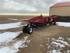 2010 Case IH 3412 12R30 Corn Head W/Industrias America 430 Header Trailer
