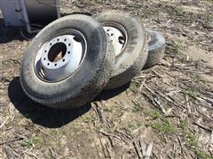 Michelin 275/80R22.5 Tires & Rims